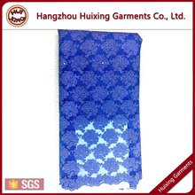 HX1031 African lace fabrics, Lace dress fabric with high quality royal blue dresses