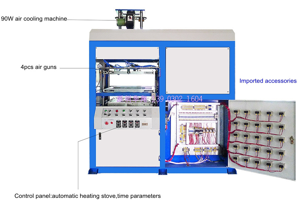 Semi-automatic thick slices blister forming machine