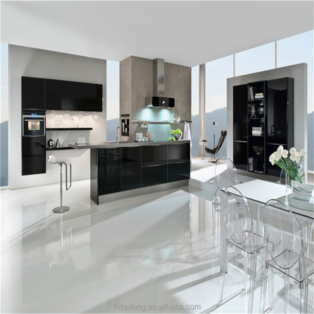 Offering custom modular white cabinets in kitchen with best designs