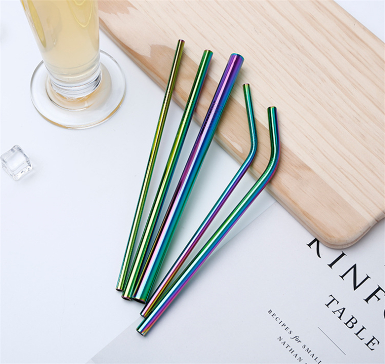 Factory wholesale high quality Food grade 304 stainless steel straws for drinking