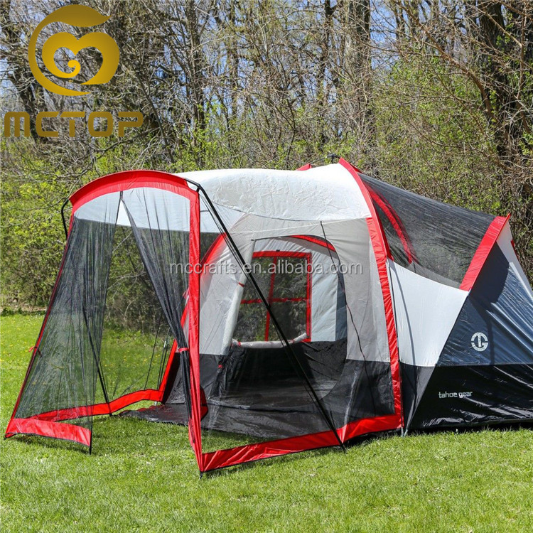 Outdoor top quality party waterproof family hiking large camping 6 man tent for traveler