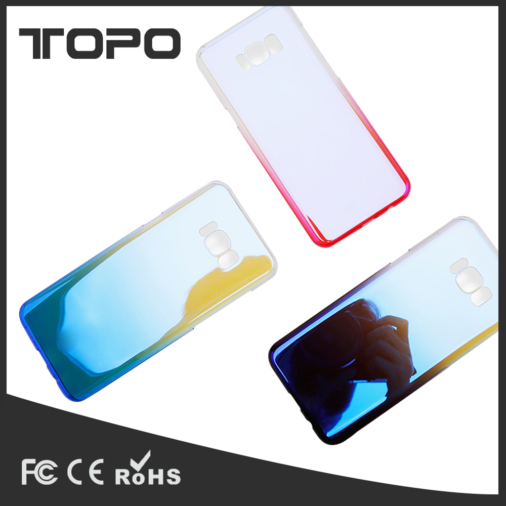 Streamer color Gradient PC hard Clear Mobile cell Phone Case cover For Samsung Galaxy s5 s6 s7 s8 edge plus