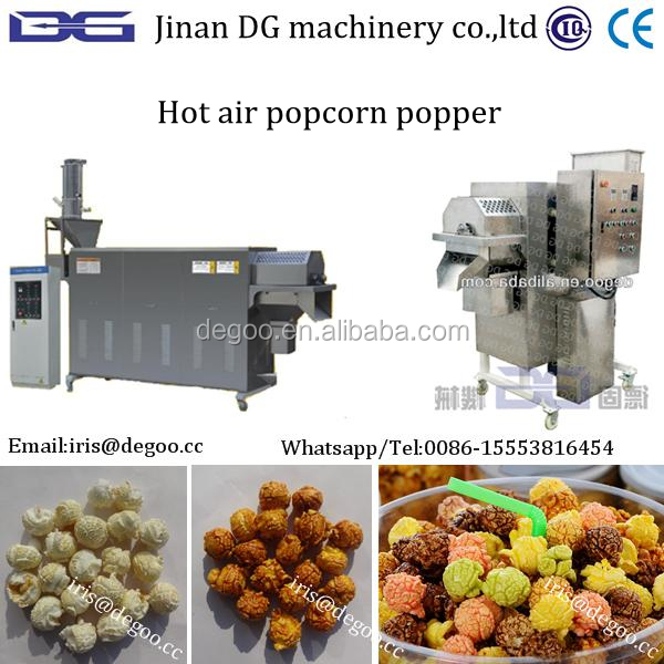 Caramel /chocolate American ball popcorn production line from Jinan DG company