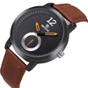 SKONE 9240 Fancy Color Leather Band Silicone Watch in Stock