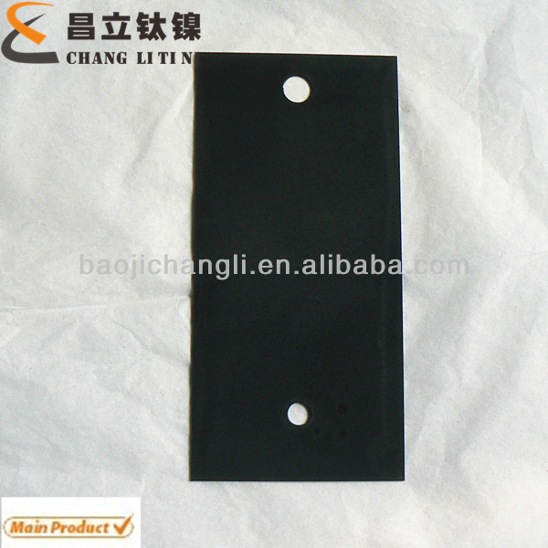 Titanium anode plate for HHO Generator