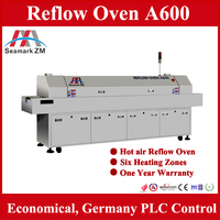 High Performance Automatic LED Reflow Soldering Machine A600 with Six Heating Zones and Germany PLC Control System