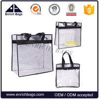 Enrich Clear PVC Tote Bag Transparent Shopper Tote Bag In Fashion Design