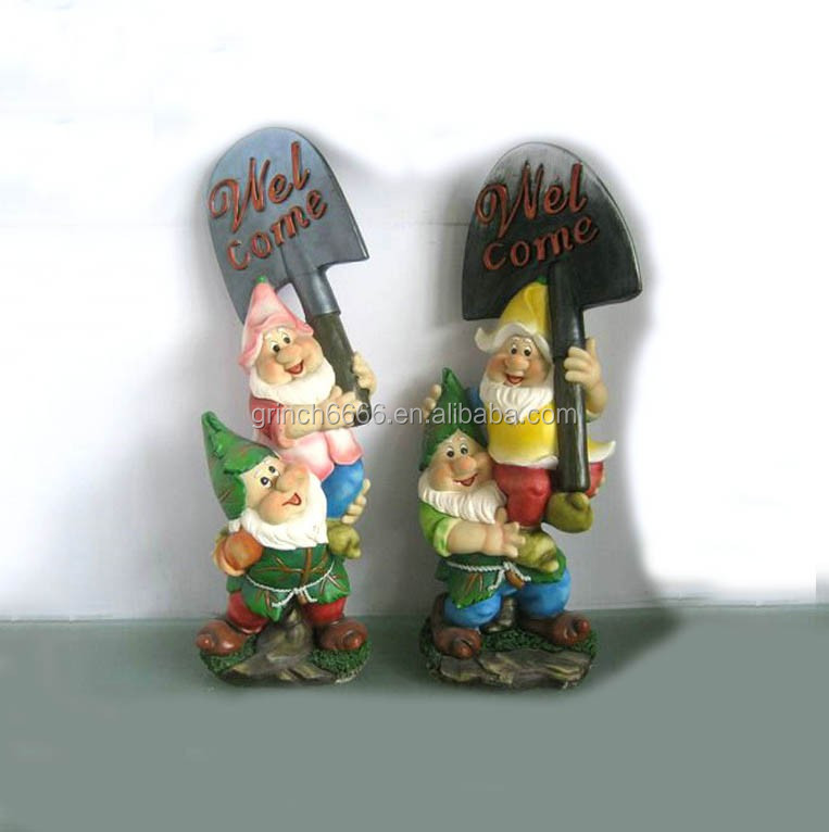 Home Decor Garden Resin Gnome Craft