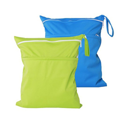 1DP0706 Wholesale 2 Pack Cloth Wet and Dry Bag Baby with 2 Pockets for Swimsuits or Wet Clothes Waterproof Cloth Bags