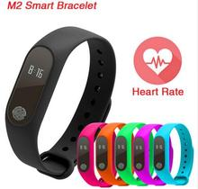 2017 New M2 Smart Bracelet Heart Rate Monitor Bluetooth Smartband Health Fitness Tracker Smart Band Wristband for Android iOS