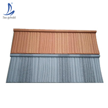 New stone coated al-zinc steel roofing sheet best quality building material wholesale decorative flat metal roof shingle