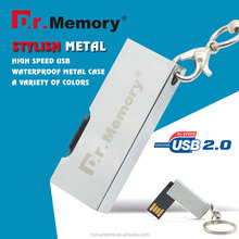 Dr.memory delicate super mini swivel usb flash drive UDP chip usb 2.0 pendrive sticker&silk print logo 2GB 4GB 8GB 16GB gedget