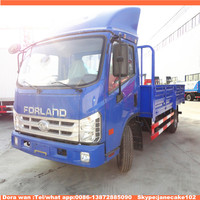 CLW brand 5 ton 6 ton foton lorry price of delivery flatbed cargo truck for sale
