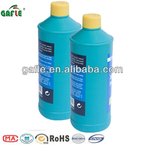heavy-duty brake fluid dot3 in plastic bottle with high dry boiling point