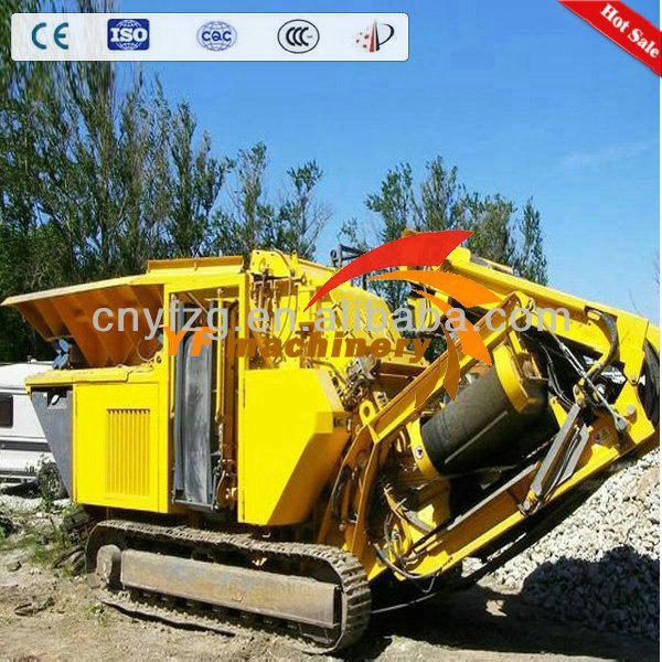 2014 newly 100 TPH crawler mini rock mobile crusher for sale