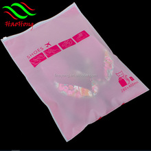 High quality wholesale t-shirt packaging matte finished sild ziplock opaque bags