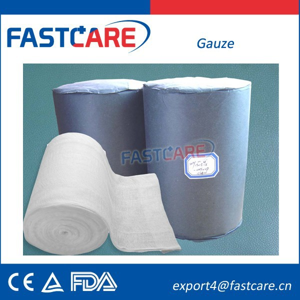 CE FDA 100 Cotton Absorbent Gauze Roll 4