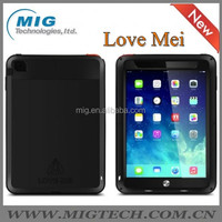 LOVE MEI Powerful AL metal Mobile phone case for ipad mini cover , Shockproof Waterproof Rugged Gorilla 6 colors optional