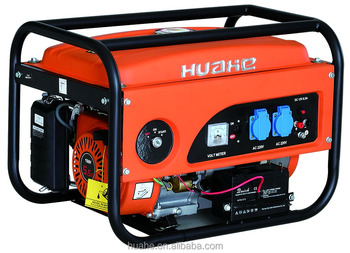 2500W gasoline generator key/electric start with battery single phase