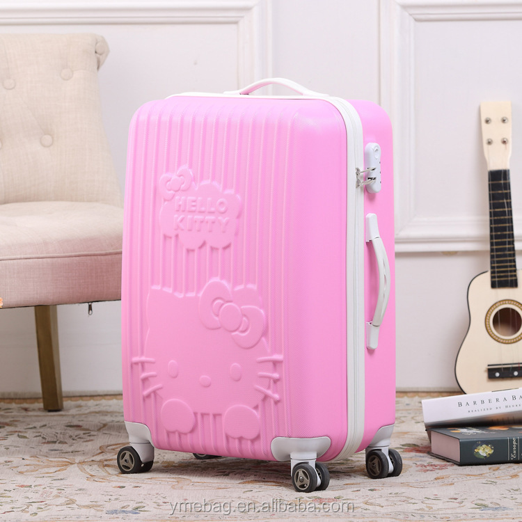 20/24/28 Inches Light Weight pink hardshell 360 Degree Wheeled Trolley Luggage Case