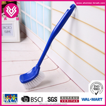 plastic floor cleaning brush with long handle hard bristle
