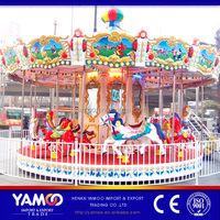 Amusement park carousel horses fairground merry go round carousel for sale