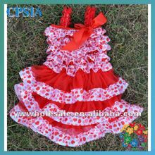 Latest Design Baby Frock Dress Vintage Satin Lace Flower Girl Dress With Bow