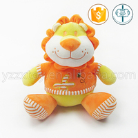 Cheap soft plush golden lucky lion