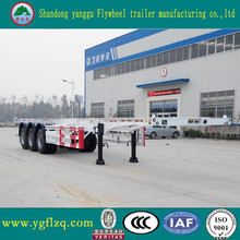 Jingyanggang Brand Container Transportation Semi Truck Trailer Frame Container Chassis for sale