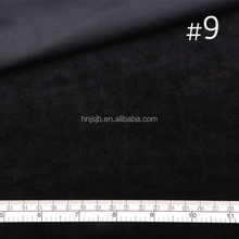 Black color cationic polyester velvet fabric for dress,shoes material