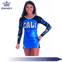 Top Quality Sublimation Crop Top Cheer Uniforms , Cheerleading Uniforms for Girls manufacturer price