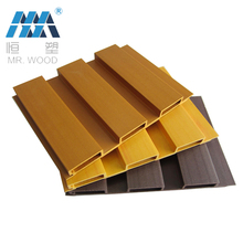 High Quality WPC Wood Siding Plastic Exterior Wood Grain Composite Wall Panel