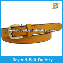 Beyond Girls 2.5cm Wide Tan Color Plain Real Leather Dress Belt in Stock