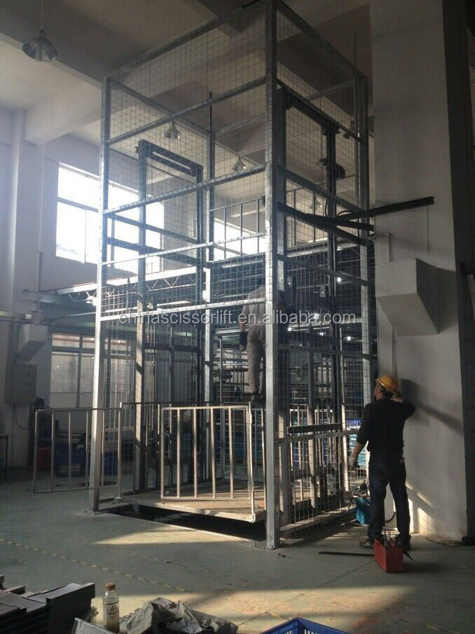 Cheap price electric hydraulic freight elevator