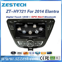 7'' 2 din car video player for Hyundai Elantra 2014 touch screen car dvd gps navigation system BT USB/SD video interface audio