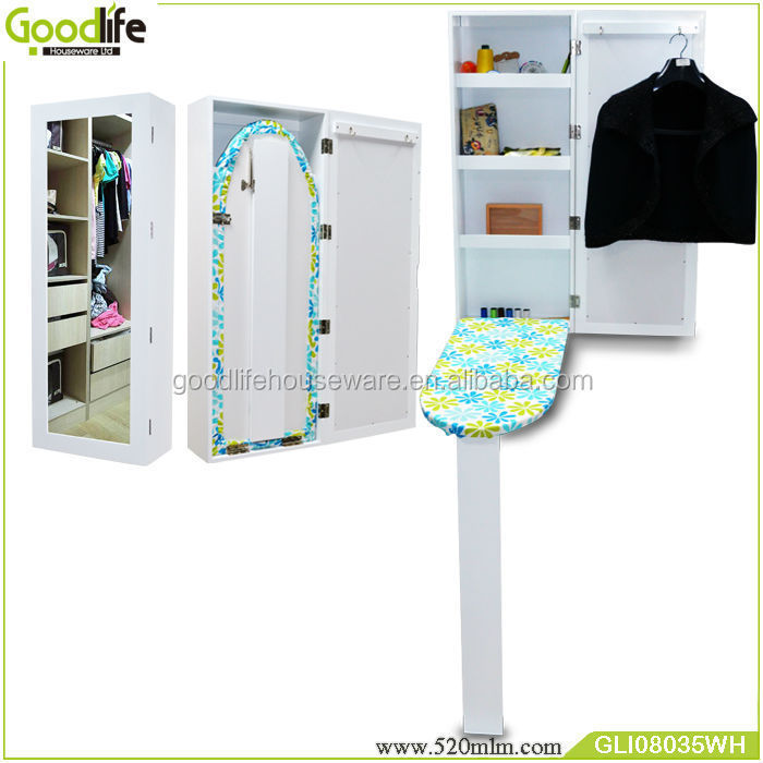 Goodlife wall mount wooden folding iron board wholesale