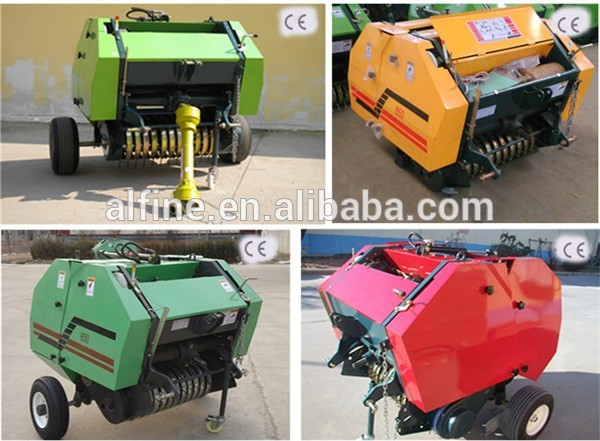 Factory supply hot sale mini round hay baler