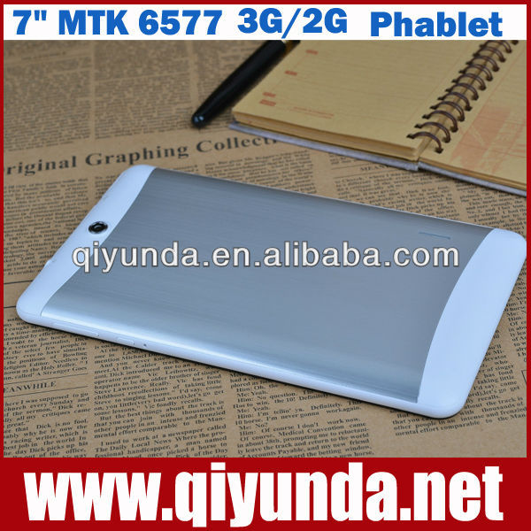 WCDMA GSM Dual-core MTK 6577 Android Tablet PC 3G mobile phone call 7 inch 1024*600 GPS WIFI Bluetooth 2013 Best seller