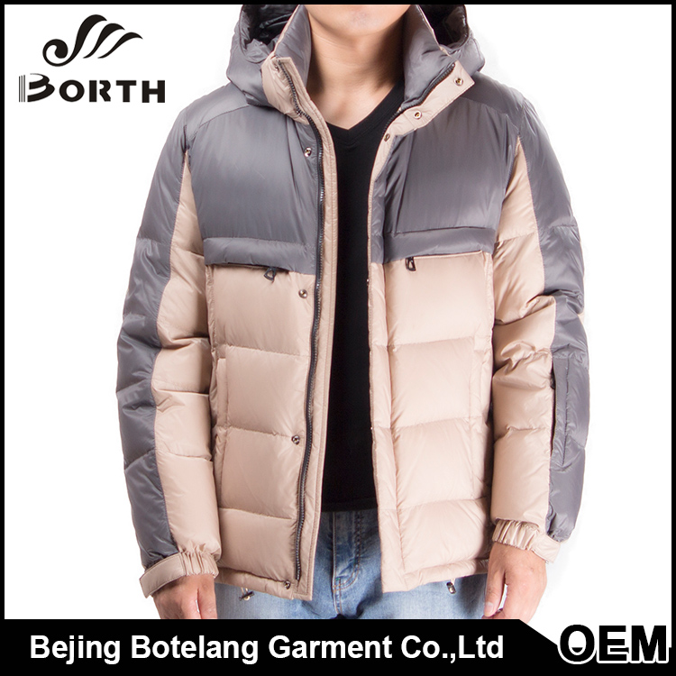 Male clothing winter coat ultralight removable hood elastic cuffs mens down jacket