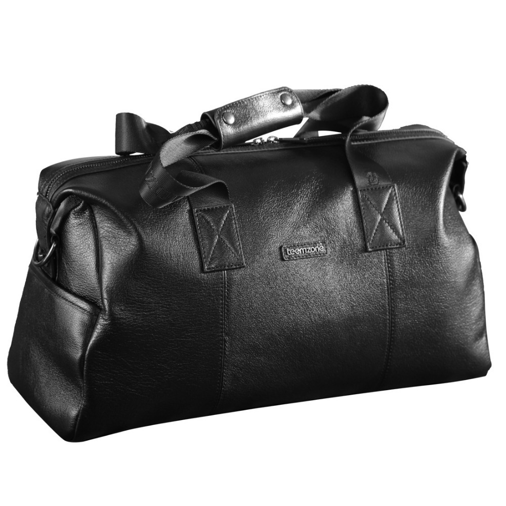 Free shipping New Men's Genuine Leather Cowhide High Quality Travel Duffle Bag Luggage leather travel bag Handbag Black T0911
