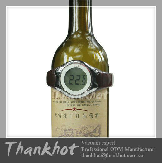 Classic Champagne & Red Wine Bottle Thermometer