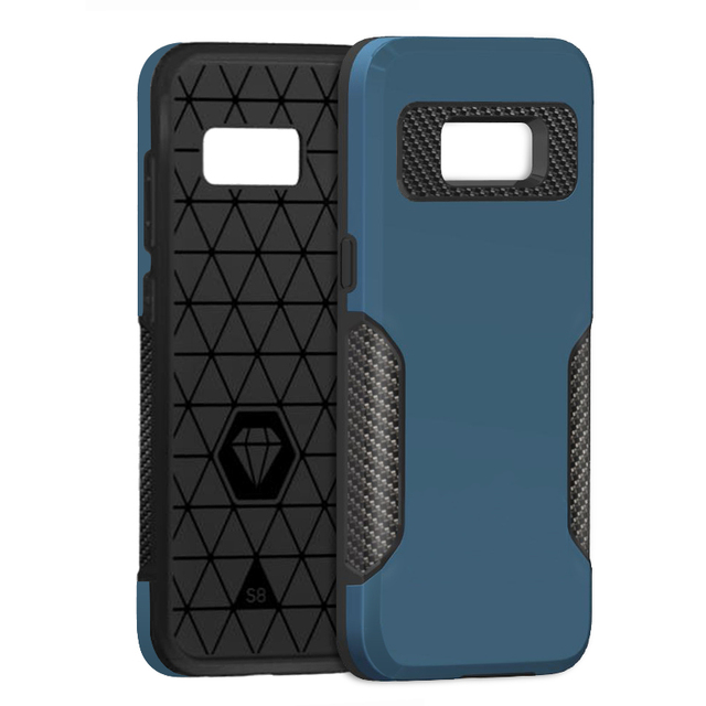 Phone Case for Samsung Galaxy S8 Carbon Fiber Protective Cover Case