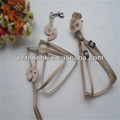 chain leather studded dog harness