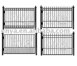Commercial Wrought Iron Gate and Fence