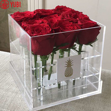 Brand new clear acrylic flowers box with high quality
