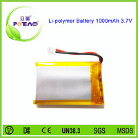 rechargeable 503450 li-polymer 1000mah 3.7v rc battery supplier
