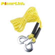H50046 4m Tow Towing Rope Strap 5 Ton Heavy Duty Car Recovery Metal Hooks