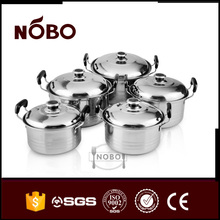 NOBO stainless steel kitchen queen non-stick cookware pot set