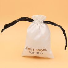 Wholesale Customized Small Personalized Drawstring Jewelry Satin Bags