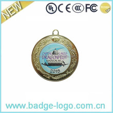 New Blank Zinc Alloy Metal Medal wholesale Custom Logowith Stickers